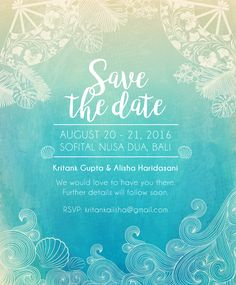 Bali Save the Date Save The Date, Chalkboard Quotes, Rsvp, Art Quotes, Bali, Dating, Studio, Wedding, Valentines Day Weddings