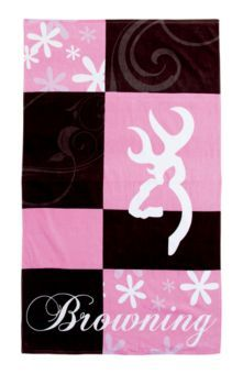 Browning® Pink and Brown Beach Towel | Bass Pro Shops