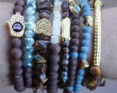 Brown and blue crystal bracelet,