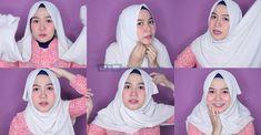 7 Ide 5 Tutorial Hijab Pashmina Wajah Bulat Simple Agar Terlihat Tirus Pas Untuk Remaja Pemilik Pipi Tembem Wajah Kursus Hijab Hijab