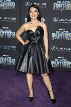 Ming-Na Wen attends Black Panther premiere held at the Dolby Theatre in Hollywood Celebrity Crush, Celebrity Photos, Celebrity Style, Melinda May, Marvel Women, Marvel Females, Ming Na Wen, Elizabeth Hurley, Gorgeous Women