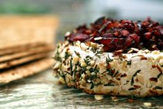 Baked Brie with Rosemary, Almond & Cherries