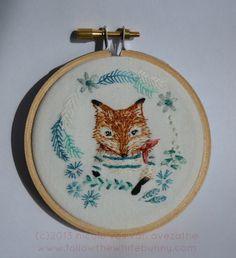 Tiny Sailor Fox Embroidery