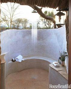 Open Air House... Open Air Shower. Nature Heaven.