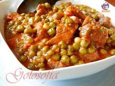 Spezzatino con i piselli, un secondo di carne gustosissimo molto apprezzato dalla cucina emiliana.