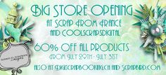 Big Opening Sale Scrap From France and CoolscrapsDigital