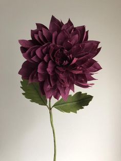 Home Decor Crepe Paper Speckled Dahlia Paper Flowers for Weddings Wholesale Baby Showers