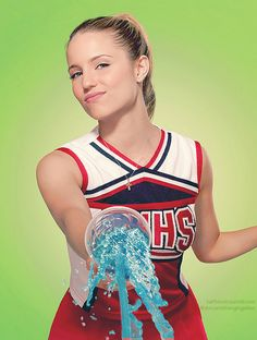 Fan Art of Glee Quinn Fabray for fans of Dianna Agron 16404962 Quinn Fabray, Dianna Agron, Melissa Benoist, Glee Quinn, Glee Cheerios, Cheerleader Costume, Glee Club, Rachel Berry, Chris Colfer