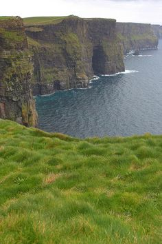 The Moher Cliffs are located at the southwestern edge of the Burren region in County Clare, Ireland
