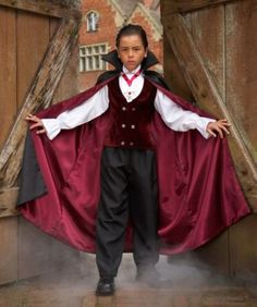 gothic vampire boys costume - It'd be a grave mistake to not give this Transylvanian transplant his fill of goodies. Cute Costumes For Kids, Boy Costumes, Halloween Costumes For Girls, Halloween Kids, Costume Ideas, Vampire Costume Kids, Gothic Vampire Costume, Vampire Boy, Dress Up Boxes