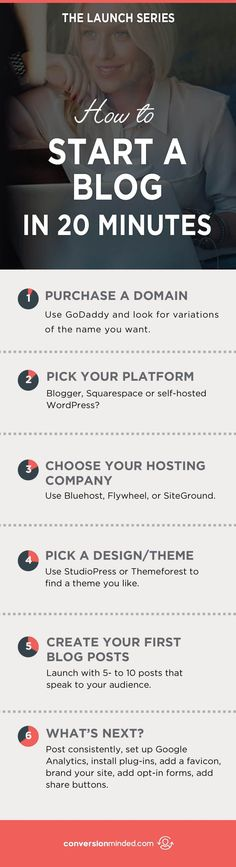 How to Start a Blog in 20 Minutes | There are just a handful of things you need to start a blog with WordPress, and I've got them right here for you. Click through to start now! start a blog checklist, blogging for beginners step by step #blogging #startablog #wordpress