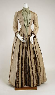 Dress  Thellier (French)  Date: 1880–85 Culture: French Medium: silk
