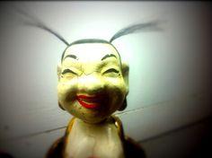 Vietnam - Marionnette de théâtre sur l'eau  You know what ?... I'm happy... Vietnam, Joker, Fictional Characters, Puppets, Photographs, Water, The Joker, Fantasy Characters, Jokers