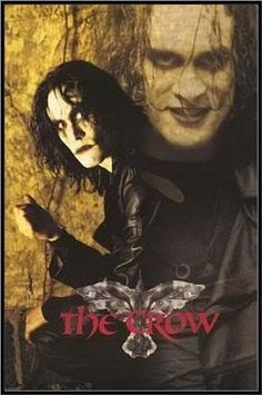 Brandon Lee The Crow. He was great in this movie. Oh, and this goes without saying, but the sequels just don't do this original justice. Brandon Lee, Bruce Lee, Crow Movie, I Movie, Cinema Posters, Movie Posters, The Crow, Movies Worth Watching, Great Movies