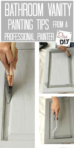Looking for bathroom ideas but a full bathroom remodel not in the budget? Why not an easy painting project for a bathroom makeover. Paint it with pro tips! #BathroomRemodeling #easybathroomremodel