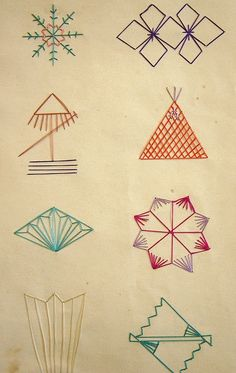 Geometrical Japanese embroidery