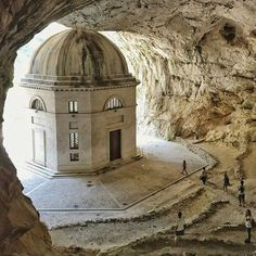 The Temple of Valadier, in Genga, Marche Italy