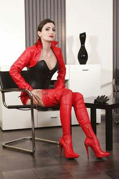 """""""Yes Mistress, as You command Your Highness"""" Thigh High Boots Heels, Heeled Boots, Stiletto Boots, Crotch Boots, Sexy Stiefel, Leder Outfits, Dress Attire, Red Boots, Leather Boots"""