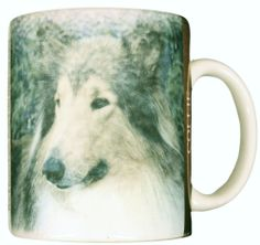 Collie Dog Coffee Mug Cup Ceramic Collectible 1994 Xpres Lassie NICE