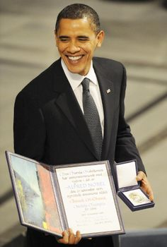 """After less than a year in office, Barack Obama was awarded the Nobel Peace Prize in December 2009. Obama accepted the award with humility and acknowledged those who doubted whether or not he had rightfully earned it. """"I am both surprised and deeply humbled by the decision of the Nobel committee,"""" Obama told reporters in a brief Rose Garden appearance. """"I do not view it as a recognition of my own accomplishments, but rather as an affirmation of American leadership on behalf of aspirations…"""