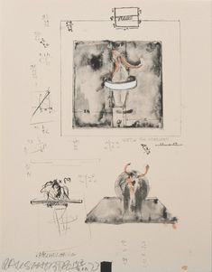 Robert Rauschenberg, 'Installation Drawing for Monograph from the Collection of Ileana Sonnabend and the Estate of Nina Castelli ', 1973