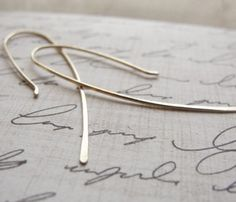 Gold Organic Hook Earrings