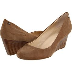 Closed toe calvin klein wedges.  I would definitely wear these to work.