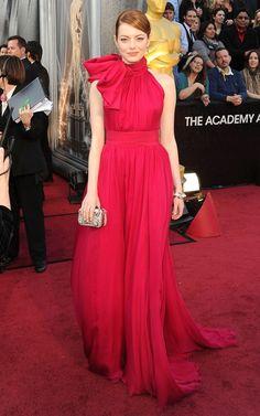 Emma Stone in Giambattista Valli at the Oscars.