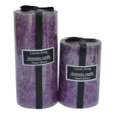 Handmade Lavender Candle Pillars Candle Scented by IndianShelf