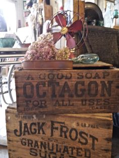 Soap and Jack Frost Sugar Crates