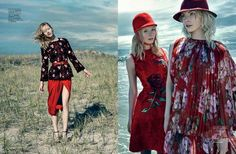 A Red-Letter Day: Striking scarlet fashion shot by Sophy Holland for ELLE Singapore