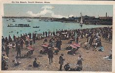 Boston MA South Boston Beach Bathers Vintage Early 1900's Postcard | eBay