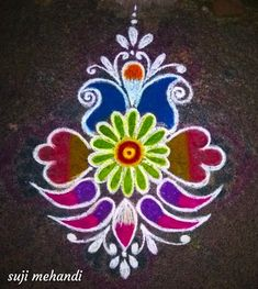 Rangoli Kolam Designs on Happy Shappy in Here you can find the most beautiful & Simple design, photos, images, free hand and more in Small & Large design Ideas Easy Rangoli Designs Diwali, Rangoli Designs Latest, Simple Rangoli Designs Images, Rangoli Designs Flower, Free Hand Rangoli Design, Rangoli Border Designs, Small Rangoli Design, Rangoli Patterns, Colorful Rangoli Designs