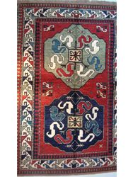 Chondzoresk Cloudband Rug Dimensions:  4 feet 11 inches x 7 feet 4 inches Wool and handmade in Armenia by Tufenkian Rugs