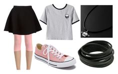 """Alien Week:Wednesday"" by doodlebob3 ❤ liked on Polyvore featuring Chicnova Fashion, Neil Barrett and Converse"