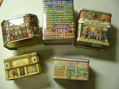 5 Tins Shaped Like Houses | eBay