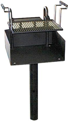 Stand-Up Grill, Standard: Stand Up Grills offer an inexpensive way to offer cooking facilities to your park's visitors. - Iowa Prison Industries