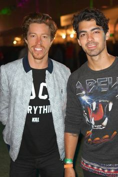 Coachella 2013 - Shaun White and Joe Jonas- check out Shauns new do! How he's matured and turned into quite the man & mogul!