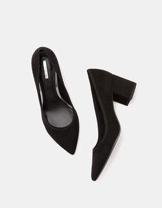 Bershka España - Zapato tacón medio punta