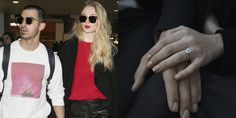 We look at the best celebrity engagement rings, from Elizabeth Taylor to Angelina Jolie. Royal Engagement Rings, Celebrity Engagement Rings, Celebrity Rings, Hollywood Jewelry, Royal Rings, Engagement Celebration, Elizabeth Taylor, Sophie Turner, Angelina Jolie