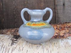 Vintage Pottery 3 Small Vase / Amphora Double by OLaLaVintage