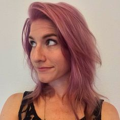 Spring is in the hair! Color by @traci_tx #salontrose #purplehair #montrose #houston pink hair