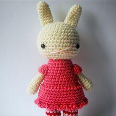 little silvia .. amigurumi rabbit toy animal crochet plushie handmade bunny - by rosieok on madeit