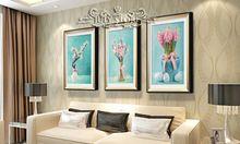 Pintura diamante DIY 3D flores bonitas kit bordado puntada cruz de diamantes pintura Rhinestone decoración del hogar 25 x 35 cm(China (Mainland))