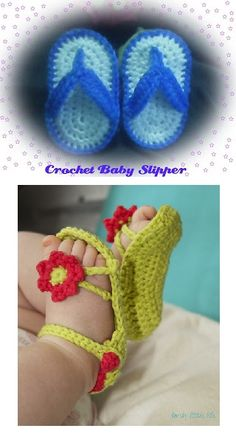 25+ Free Crochet baby sandals and barefoot patterns