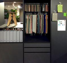 Vitra NeoCon 2016 showroom design by SHIBULERU. Color, materials, finishes library