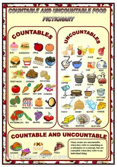 COUNTABLES - UNCOUNTABLES- PICTIONARY worksheet - Free ESL printable worksheets made by teachers