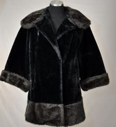 Vintage 60s Black Faux Mouton Sheared Beaver by PelhamRoadVintage, $85.00