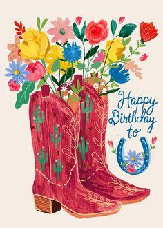 Happy Birthday Greetings Friends, Happy Birthday Art, Birthday Book, Birthday Blessings, Birthday Wishes Quotes, Happy Birthday Messages, Happy Birthday Images, Vintage Birthday, Birthday Pictures