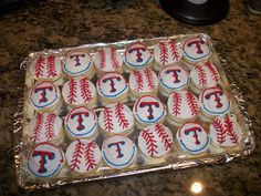 Texas Rangers Lofthouse style sugar cookies - Made by ME!